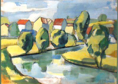 Dorf am Fluß